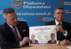 Konin. Borys Budka i Arkadiusz Myrcha w Klubie Obywatelskim