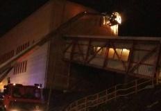 Pożar w elektrowni Pątnów. Palił się pył węglowy
