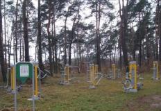 Siłownia zewnętrzna  w lesie. Nadleśnictwo Turek dba o kondycję