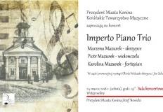 Konin. Koncert w Szkole Muzycznej w Koninie Imperto Piano Trio.