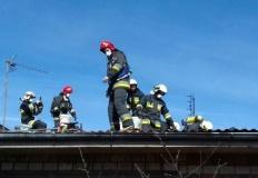 Trąbczyn. Pożar dachu. Konieczna była częściowa rozbiórka
