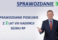 Poseł Tomasz Piotr Nowak - Sprawozdanie poselskie za pierwszą połowę VIII kadencji Sejmu RP