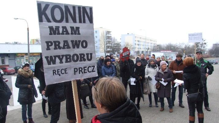 Stop zaostrzeniu ustawy antyaborcyjnej. Czarny protest w Koninie