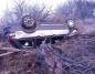 Wypadek w Grzegorzewie. Samochód na dachu, bez kierowcy