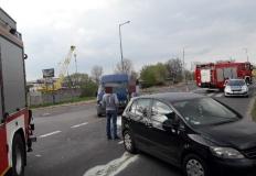Dwie osoby poszkodowane w zderzeniu aut w starej części Konina