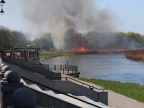 Konin. Pożar przy bulwarze nadwarciańskim. Płonęła sucha trawa