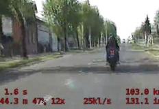 Koło. Motocyklem pędził w  ...