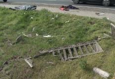 Lisewo. Śmierć na drodze. Motocyklista uderzył w płot