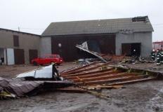Konińscy strażacy podliczają straty po silnym wietrze i deszczu