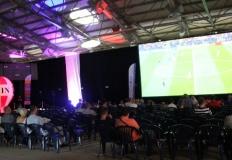 Finałowa strefa kibica w hali Rondo. Kibicował również prezydent