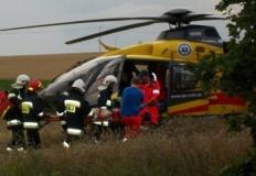 Strażacy pomogli w zabezpieczeniu lądowania śmigłowca LPR