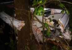 Ślesin. Motorówka rozbiła się na drzewie. Dwie osoby w szpitalu