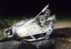 Pożar samochodu w Cieninie Kościelnym. Kierowcy nic się nie stało