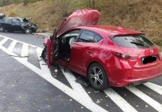 Wypadek w Grąblinie. Kierowcy przetransportowani do szpitala