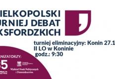 Konin. Turniej eliminacyjny debat oksfordzkich odbędzie się w II LO