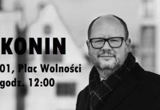 Pożegnanie prezydenta Gdańska na placu Wolności w Koninie