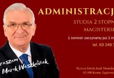 W WSKM w Koninie studiowanie administracji zaczynamy w marcu
