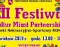 Festiwal Kultur Miast Partnerskich w pierwszą niedzielę kwietnia