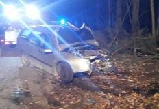 Kradzionym autem uderzył w drzewo i uciekł z miejsca kolizji