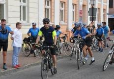 Niebiescy rowerzyści wyruszyli w drugi rajd z Konina do Konina