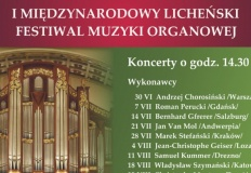 Pierwszy międzynarodowy licheński festiwal muzyki organowej