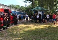 Wspólne ćwiczenia jednostek straż pożarnej na jeziorze Powidzkim