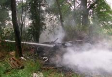 Pokoje. Pożar zaczął się od wypalania liści i odpadów komunalnych