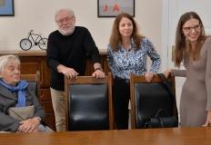 Córka przedwojennego burmistrza Konina w gabinecie prezydenta