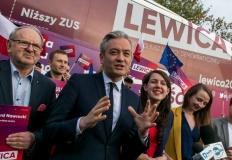 Robert Biedroń odwiedził Konin, by promować kandydatów Lewicy