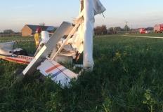 Wypadek lotniczy w miejscowości Kobylata. Na miejscu zginął pilot