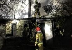 Rosocha Druga. W nocy doszczętnie spłonął dom jednorodzinny
