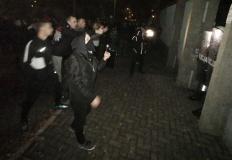 Zamieszki przed komendą policji w Koninie. Było niebezpiecznie