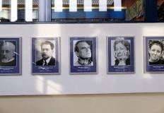 Konin. Polscy nobliści w dziedzinie literatury. Galeria w bibliotece