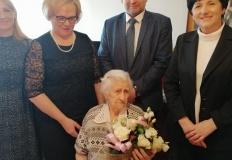Kleczew. Życzenia urodzinowe dla stuletniej pani Marianny