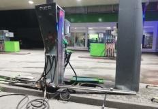 Słupca. Kierowca uderzył w dystrybutor gazu na stacji paliw
