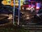 Zderzenia trzech samochodów na skrzyżowaniu. Dwie osoby ranne