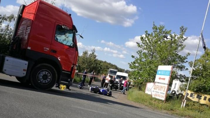 Brzeźno. Zderzenie motocykla i samochodu ciężarowego. Bez ofiar