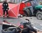 Główiew. Po zderzeniu z ciągnikiem, motocyklista zginął na miejscu