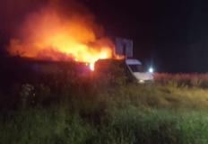 Kownaty. W pożarze budynku gospodarczego spłonęła setka gołębi