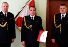 Konin. Komendant Państwowej Straży Pożarnej oficjalnie powołany
