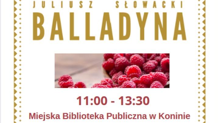"""Narodowe Czytanie """"Balladyny"""" w Miejskiej Bibliotece Publicznej"""