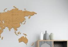 Drewniana mapa. Świetny pomysł na edukacyjną dekorację ściany