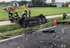 Dwa groźnie wyglądające wypadki na drogach powiatu konińskiego