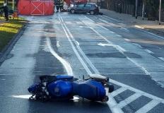 Tragiczny wypadek na Przemysłowej w Koninie.  Zginął motocyklista