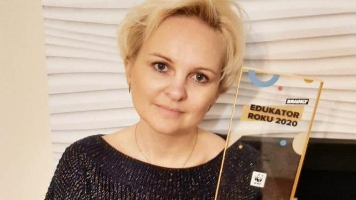 """Joanna Gadomska z Żychlina z tytułem """"Edukatora Roku 2020"""""""