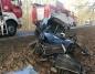 Kazimierz Biskupi. Zderzenie auta osobowego z ciężarówką