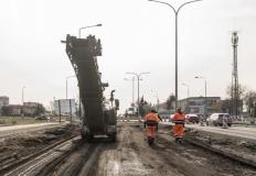 Na Kleczewskiej trwają intensywne prace i  nadrabianie zaległości