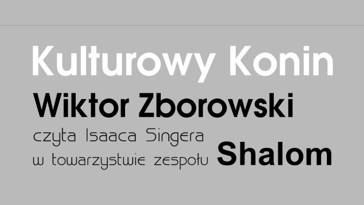 Kulturowy Konin: zaprasza Wiktor Zborowski i zespół Shalom