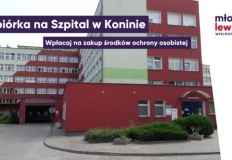 Konin. Zbiórka pieniędzy na środki ochrony osobistej dla szpitala