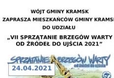 Gmina Kramsk też zorganizuje akcję sprzątania brzegów Warty